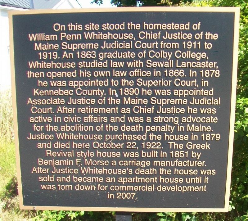 William Penn Whitehouse Homestead Site Marker image. Click for full size.