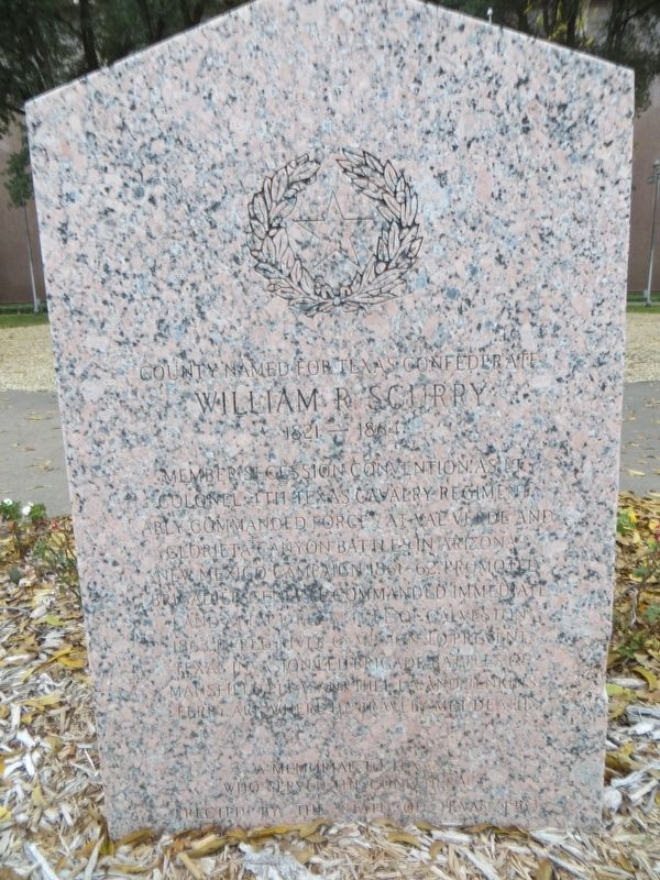 County Named for Texas Confederate William R. Scurry Marker image. Click for full size.