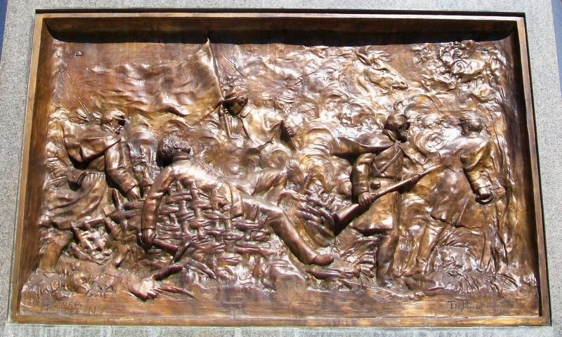 Civil War Memorial Bas Relief image. Click for full size.
