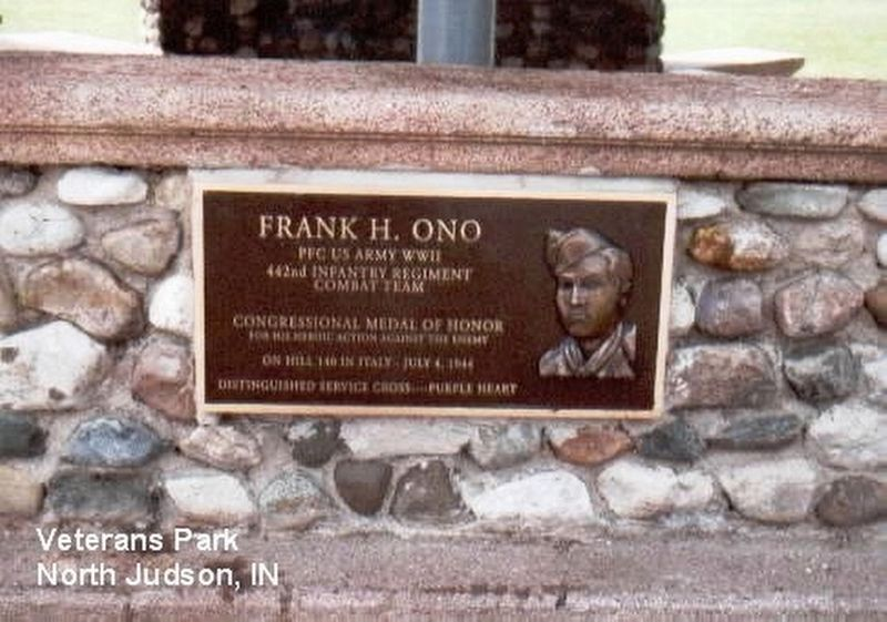 Frank H. Ono Memorial Marker image. Click for full size.