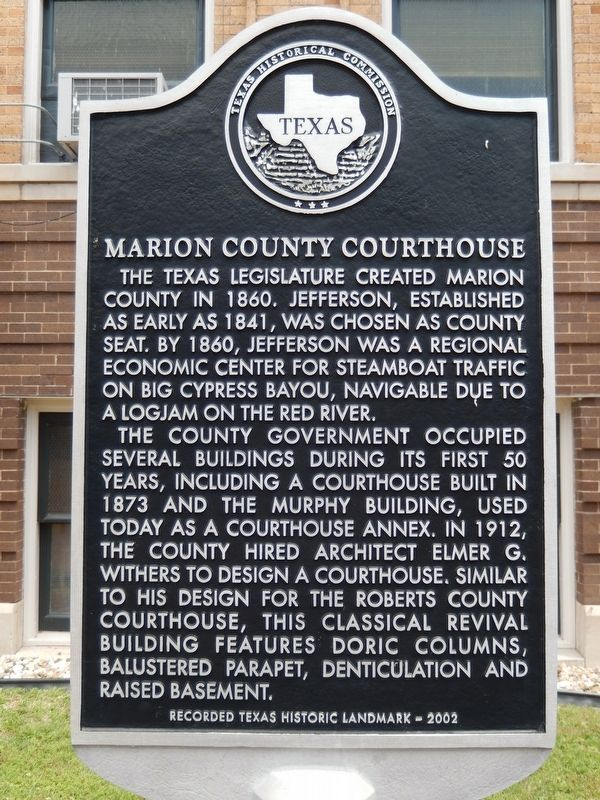 Marion County Courthouse Marker image. Click for full size.