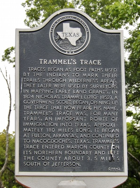 Trammel's Trace Marker image. Click for full size.