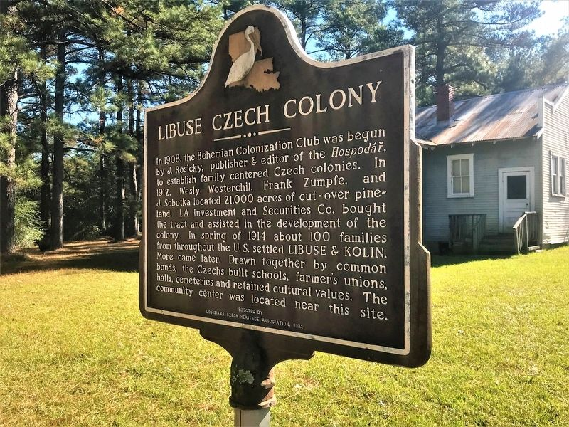 Libuse Czech Colony Marker image. Click for full size.
