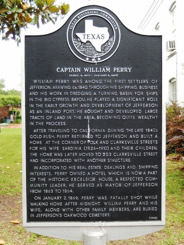 Captain William Perry Marker image. Click for full size.