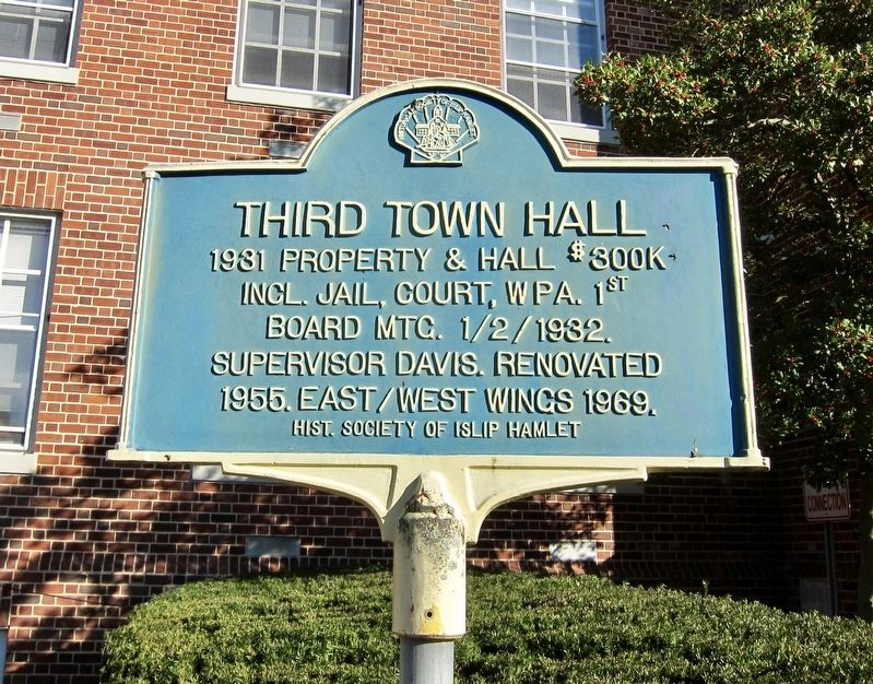 Third Town Hall Marker image. Click for full size.