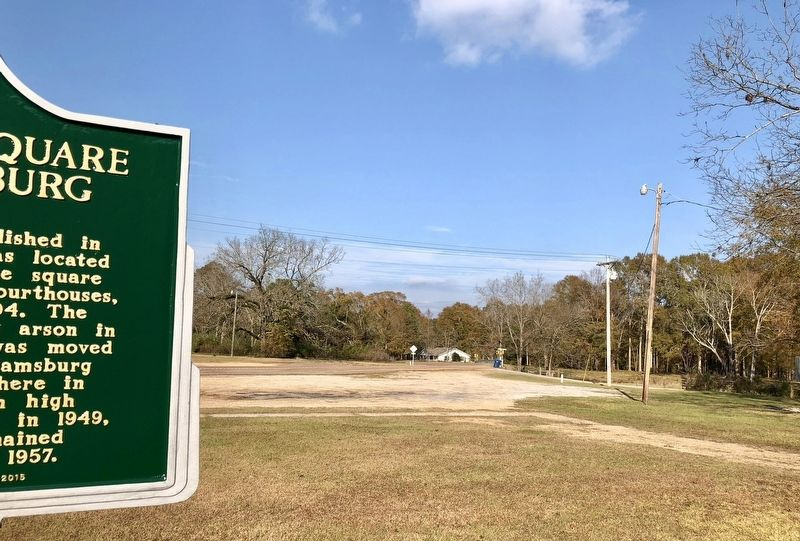 View of marker looking north on Lake Mike Conner Road. image. Click for full size.