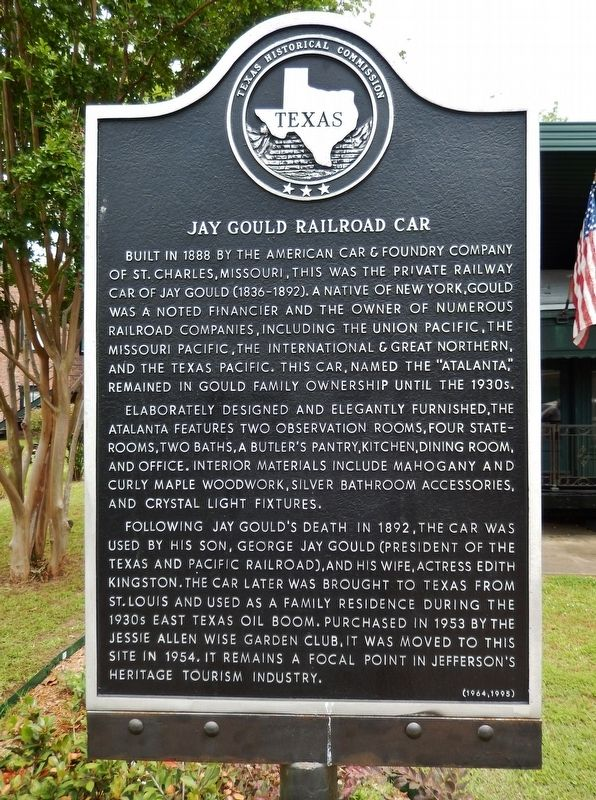 Jay Gould Railroad Car Marker image. Click for full size.