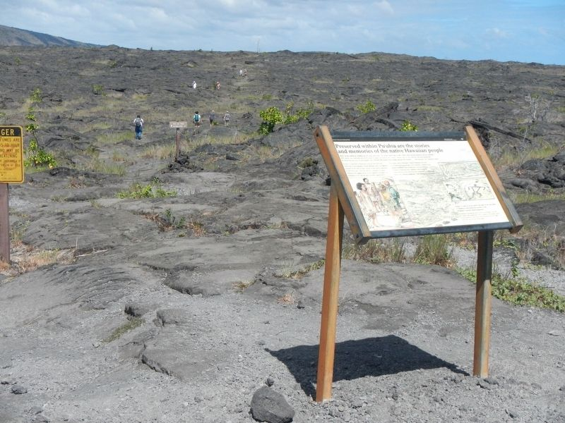 Preserved within Pu'uloa are the stories and memories of the Native Hawaiian people Marker image. Click for full size.