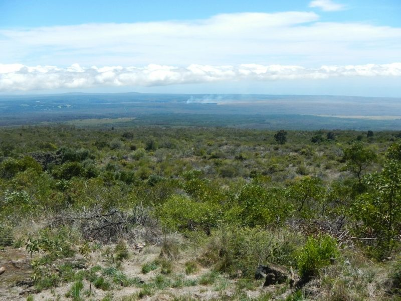 Kīlauea from Mauna Loa Lookout image. Click for full size.