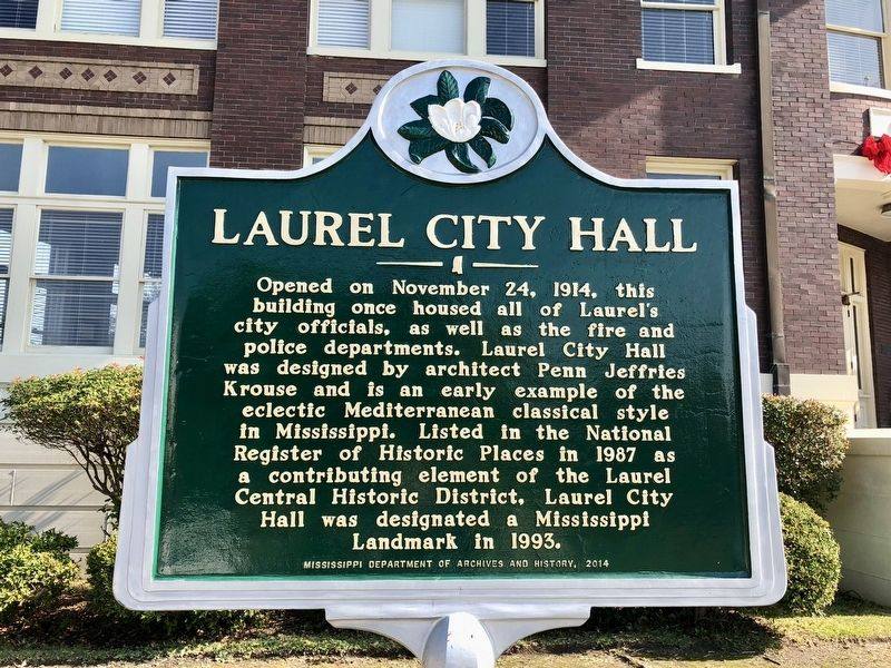 Laurel City Hall Marker image. Click for full size.