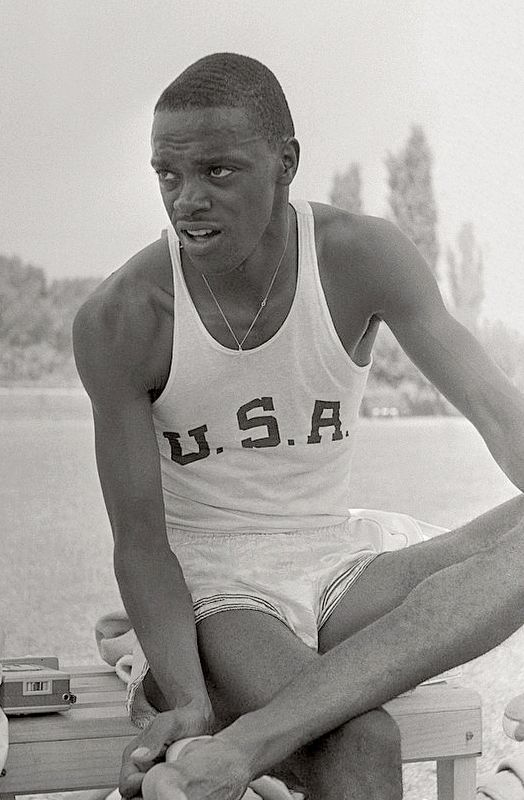 Ralph Boston at the Rome Olympics in 1960. image. Click for full size.