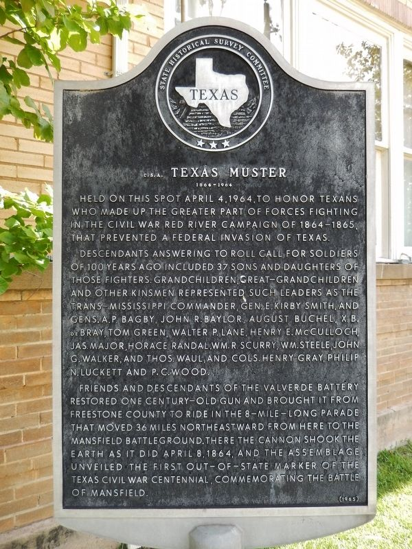 C.S.A. Texas Muster Marker image. Click for full size.