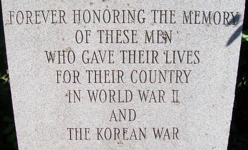 World War II and Korean War Memorial Dedication image. Click for full size.