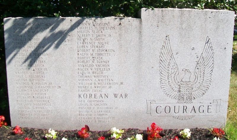World War II and Korean War Memorial Roll of Honored Dead image. Click for full size.