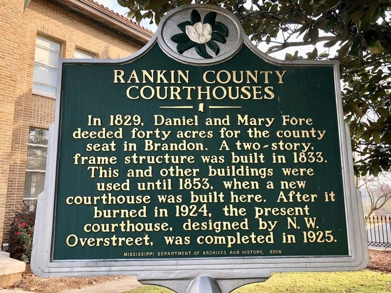 Rankin County Courthouses Marker image. Click for full size.