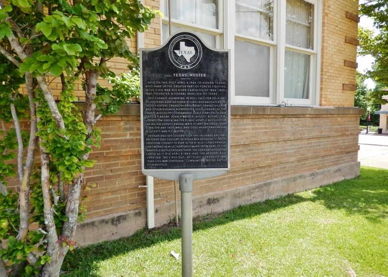 C.S.A. Texas Muster Marker (<i>wide view</i>) image. Click for full size.