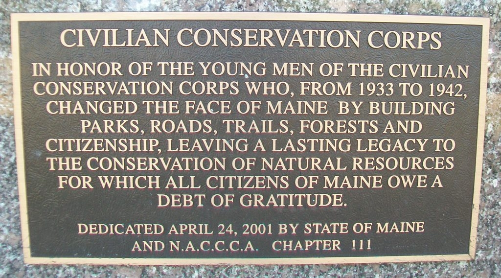 Civilian Conservation Corps Marker