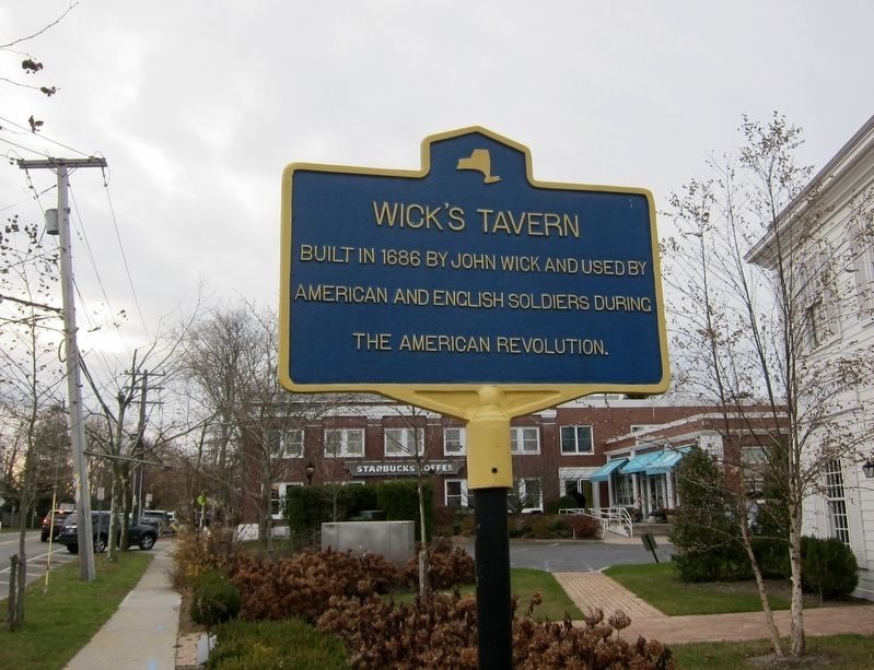 Wick's Tavern Marker image. Click for full size.