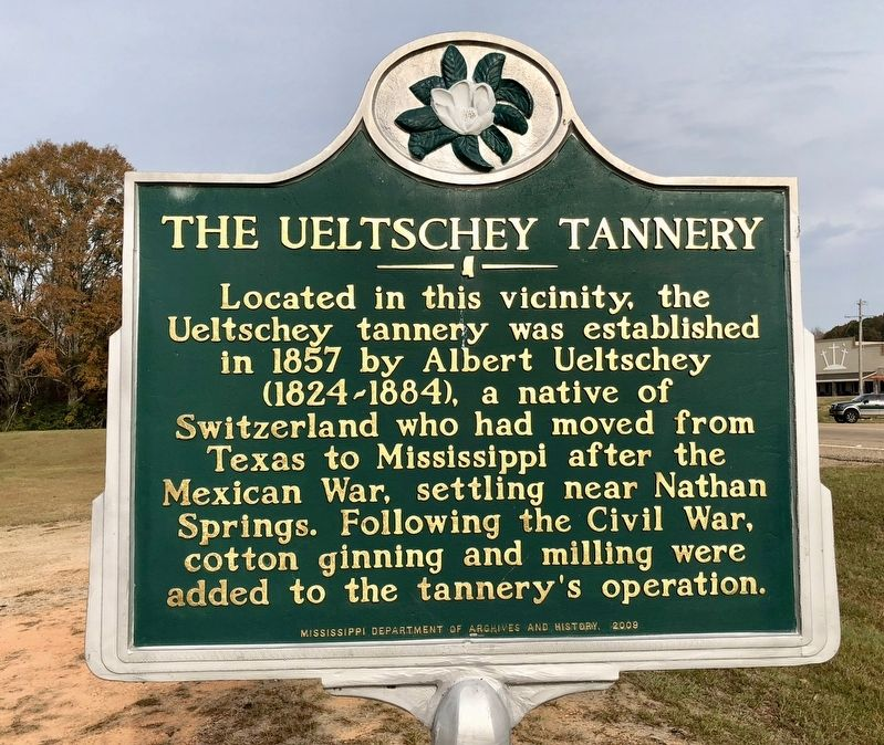 The Ueltschey Tannery Marker image. Click for full size.