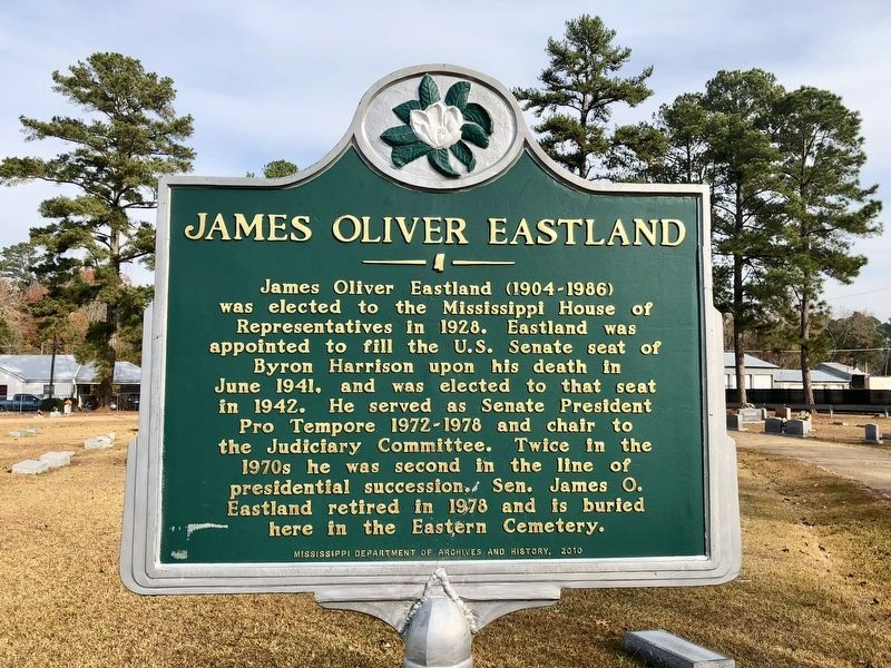 James Oliver Eastland Marker image. Click for full size.