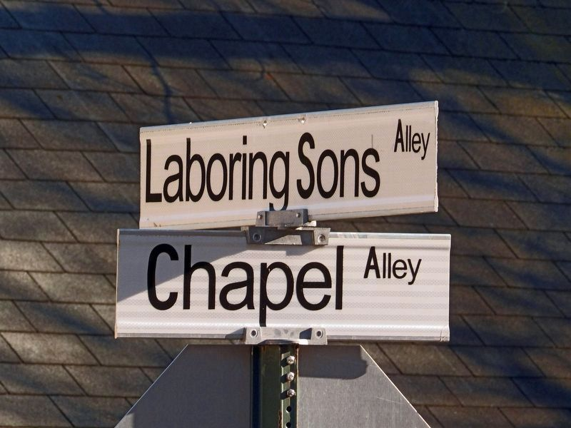 Laboring Sons Alley & Chapel Alley image. Click for full size.