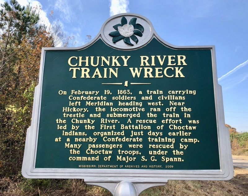 Chunky River Train Wreck Marker image. Click for full size.