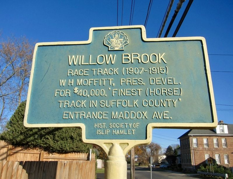 Willow Brook Marker image. Click for full size.