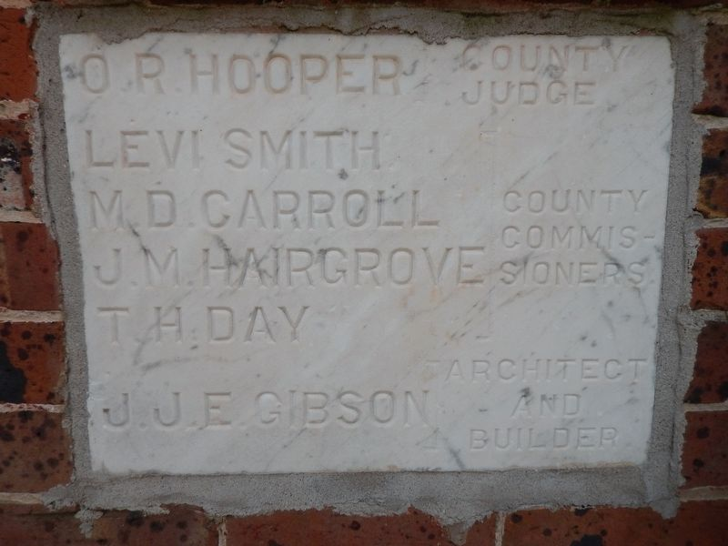 Shelby County Courthouse Cornerstone image. Click for full size.