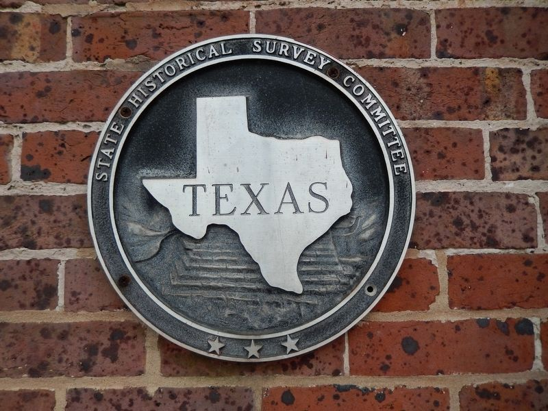 Texas Historical Medallion (<i>opposite entrance from marker</i>) image. Click for full size.
