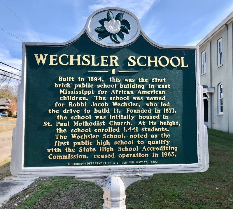 Wechsler School Marker image. Click for full size.