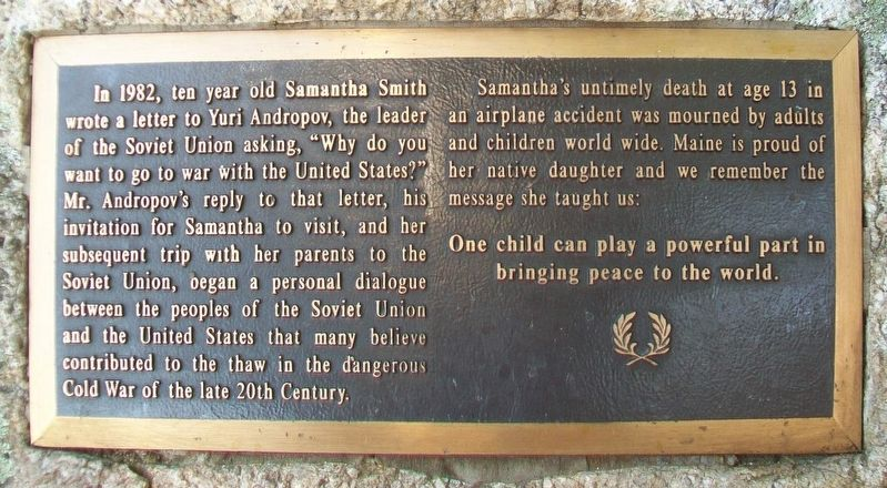 Samantha Reed Smith Marker image. Click for full size.