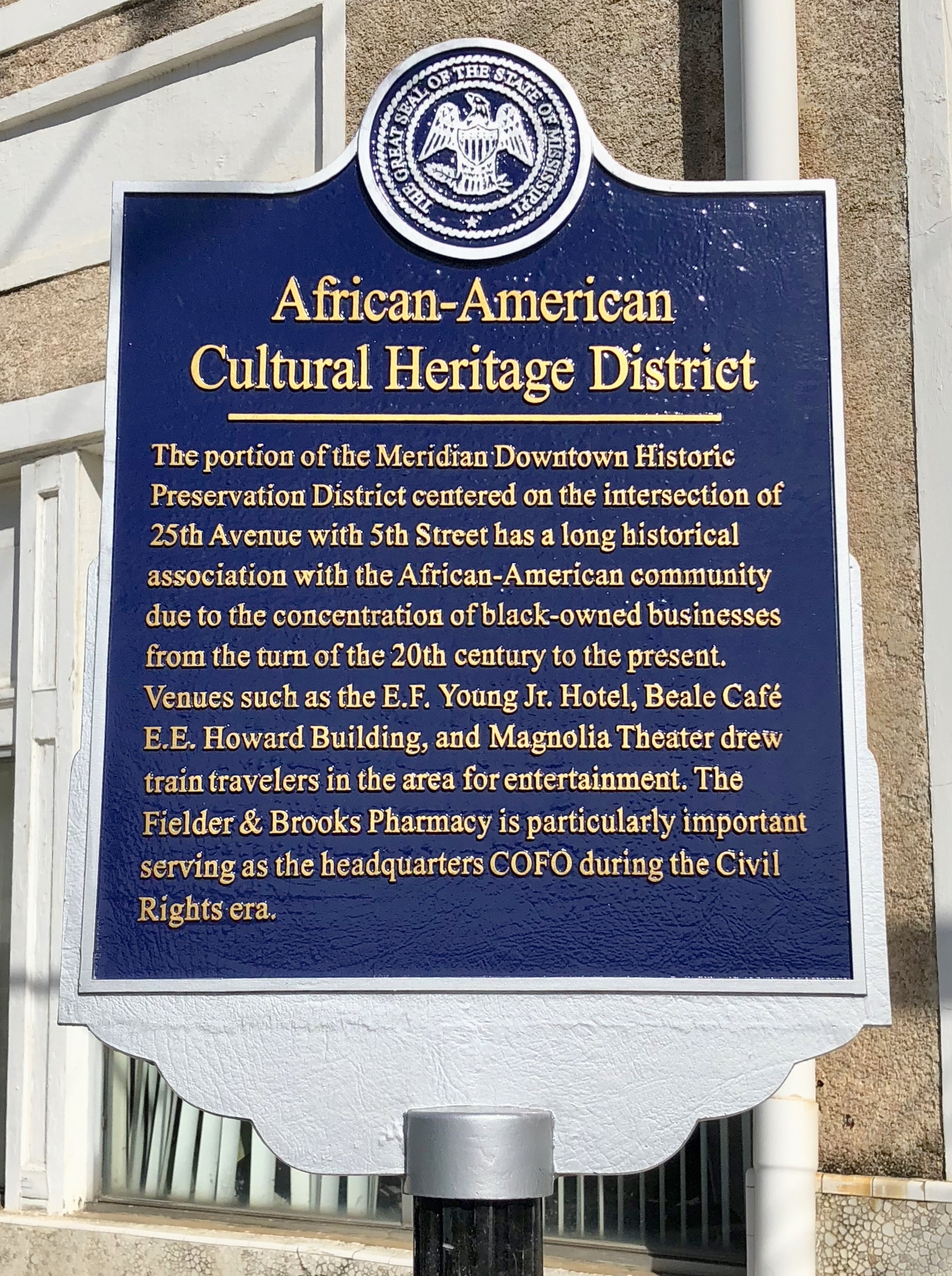 African-American Cultural Heritage District Marker