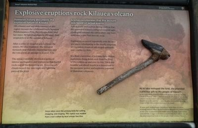 Explosive eruptions rock Kīlauea volcano Marker image. Click for full size.