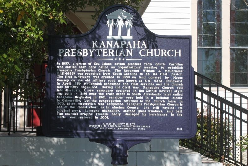 Kanapaha Presbyterian Church Marker image. Click for full size.