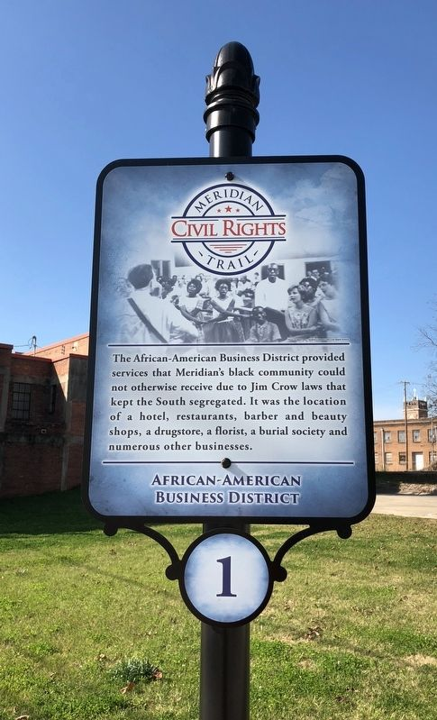 African American Business District Marker image. Click for full size.