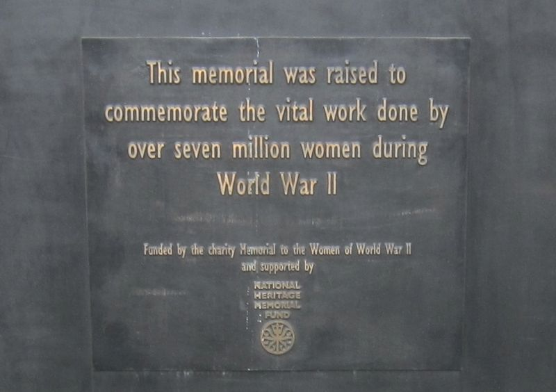 Monument to the Women of World War II - South Panel image. Click for full size.