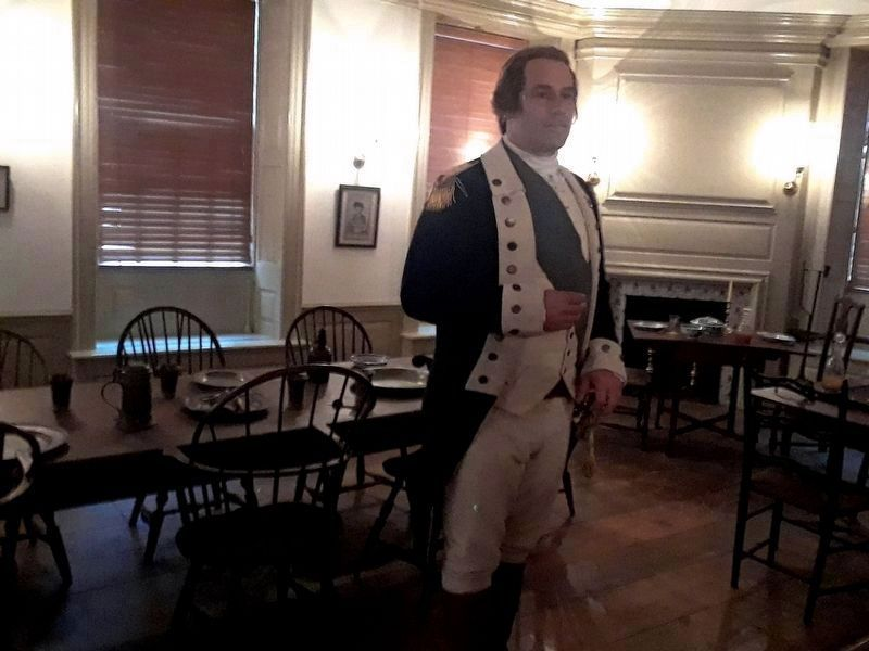 General Washington in the Long Room image. Click for full size.