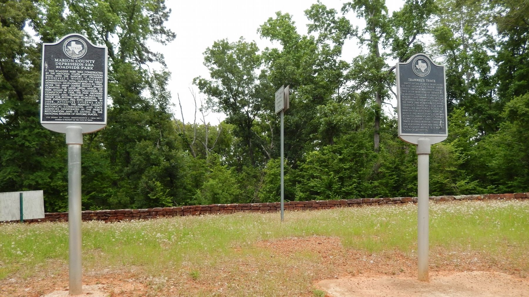 Trammel&#39;s Trace Marker (<i>wide view showing adjacent marker</i>) image. Click for full size.
