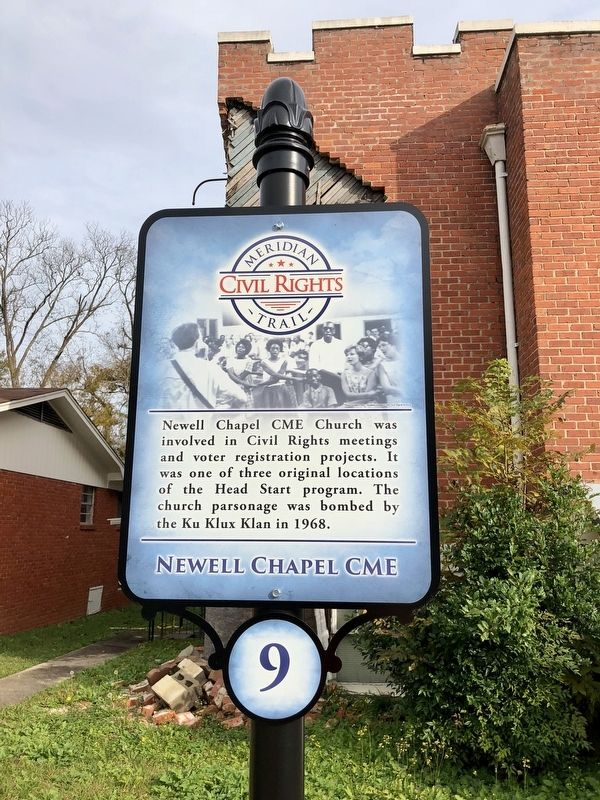 Newell Chapel CME Marker image. Click for full size.