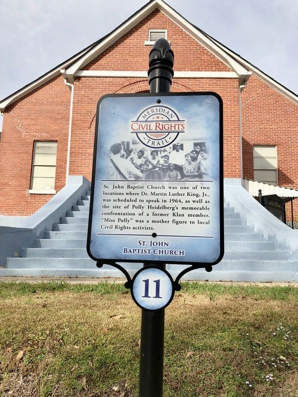 St. John Baptist Church Marker image. Click for full size.