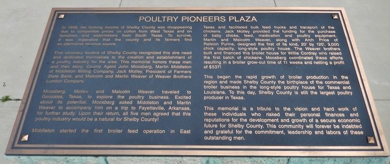 Poultry Pioneers Plaza Marker image. Click for full size.