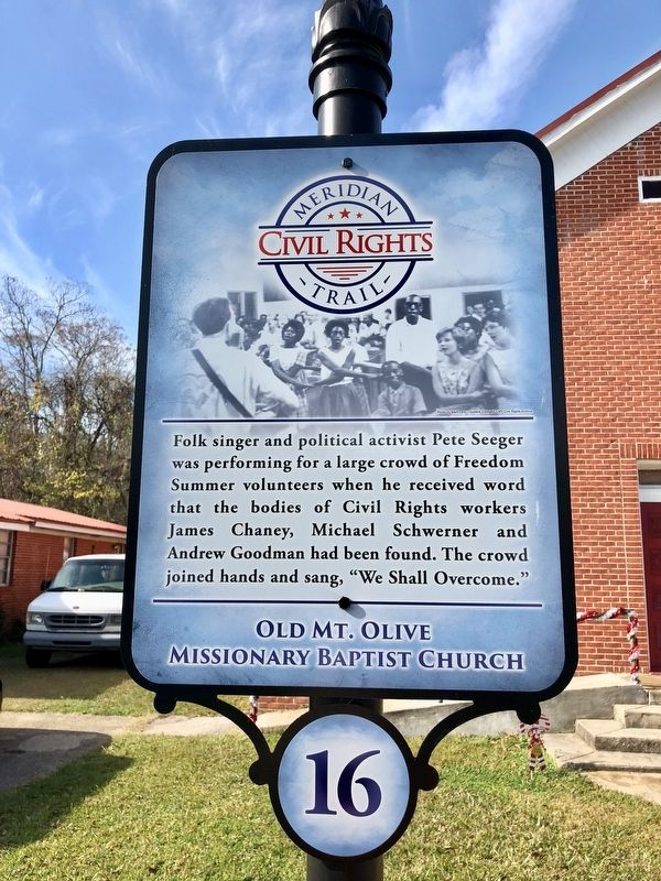 Old Mt. Olive Missionary Baptist Church Marker image. Click for full size.