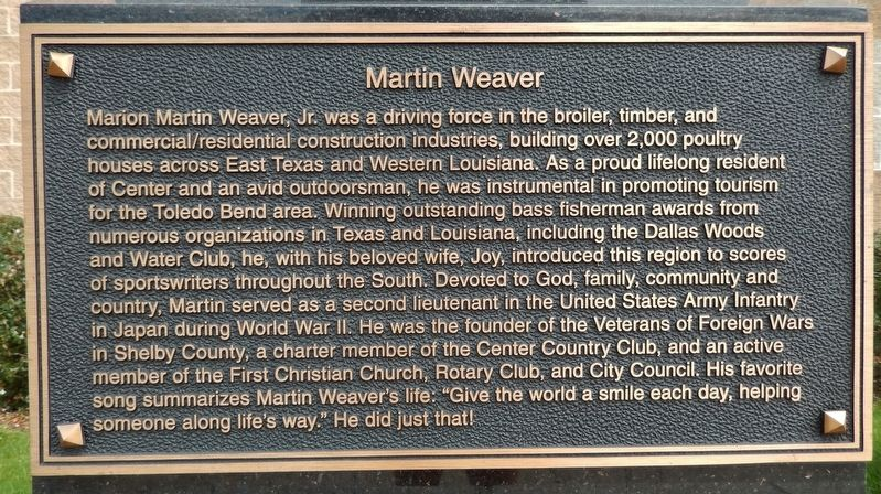 Martin Weaver Marker image. Click for full size.