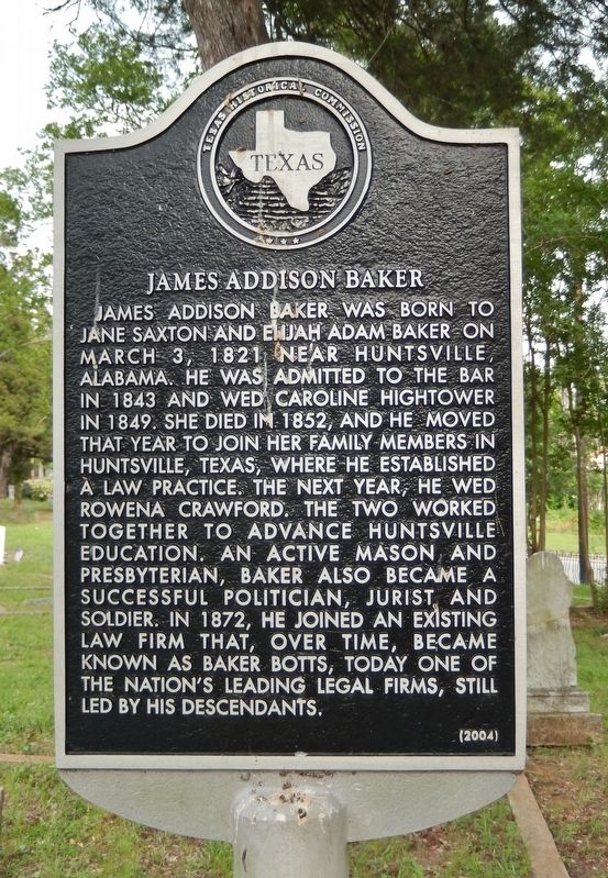 James Addison Baker Marker image. Click for full size.