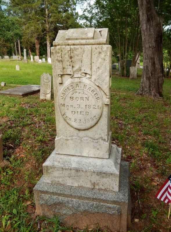 James Addison Baker Monument (<i>beside marker</i>) image. Click for full size.