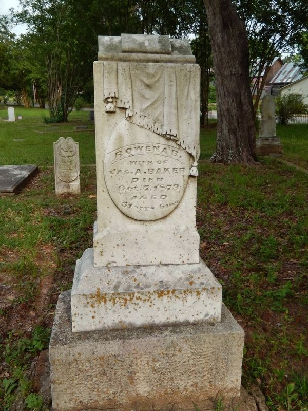 Rowena Crawford Baker Monument (<i>beside marker</i>) image. Click for full size.