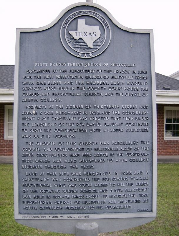 First Presbyterian Church of Huntsville Marker image. Click for full size.