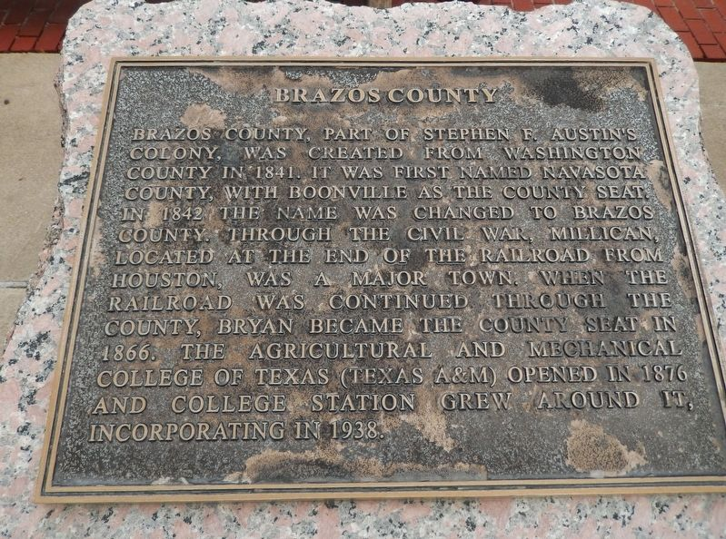 Brazos County Marker image. Click for full size.