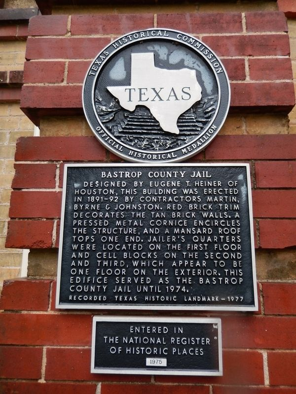Bastrop County Jail Marker image. Click for full size.