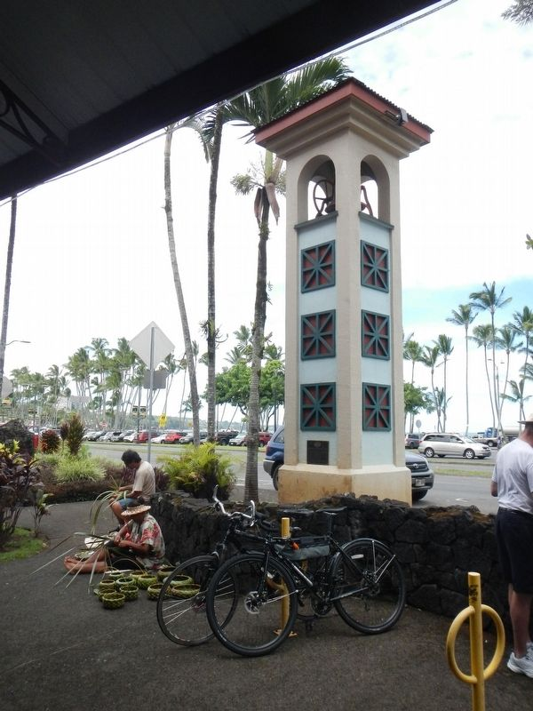 Hilo Town Plantation Bell Tower and Marker image. Click for full size.